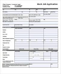 Mock Application Form Mock Job Application Magdalene Project Org
