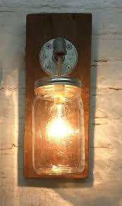 primitive bathroom lighting. mason jar sconce light fixture rustic reclaimed barn wood hanging industrial made in america primitive bathroom lighting