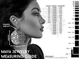 Ear Gauge Size Chart Actual Size Most Popular Body Jewelry Gauge Chart Actual Size Earring