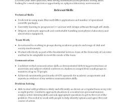 Technical Skills In Resume New Skills On A Cv Examples Packed With Resume Communication Skills