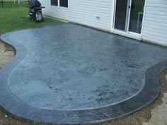 blue stained concrete patio. Acid Stained Concrete Patio | Depot Stain Diy Clean Blue R