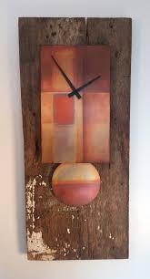 barn wood clock with copper
