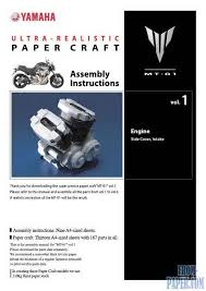 models from paper of car paper craft yamaha mt 01 model of the ese concept motorcycle