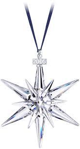 2005 - STAR - Large Star - blue ribbon. Crystal CollectionChristmas StarsXmas  OrnamentsSwarovski ...