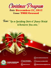 Christmas Program Theme Talibon Montessori School Inc