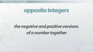 absolute value opposite integers lesson transcript study com