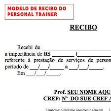 Modelo De Recibo Modelo De Recibo Kit Personal Trainer