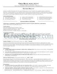 Sample Analyst Resume System Analyst Resume Example Sample Professional Resume