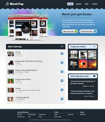 Site Disign Beautiful Music Streaming Website Design In Photoshop