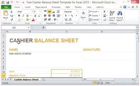 register balance sheet free cashier balance sheet template for excel 2013