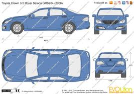 The-Blueprints.com - Vector Drawing - Toyota Crown 3.5 Royal ...