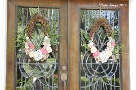 spring front door wreathsNote Songs Front Door Spring Wreaths