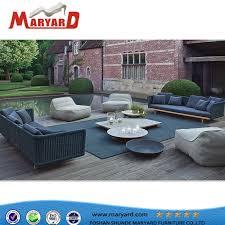china patio rattan sofa set with teak