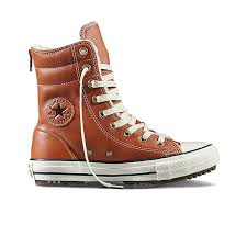 chuck taylor all star hi rise boot leather fur in antique sepia converse antique sepia 553390c