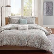 madison park pure dermot 5 piece cotton comforter set 2 color option