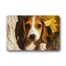 Design Personalize Decor Carpets Door Mats Beagle Puppy Washable ...