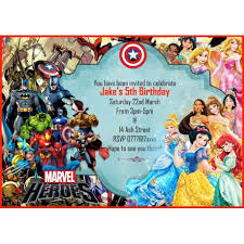 Personalized Superheroes Personalised Boys Birthday Party Invitations Disney Princess Super Hero 8 Cards