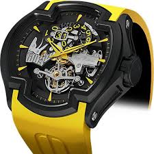 17 best images about awesome gear tag heuer lacroix dlc yellow mechanical skeleton watch for men