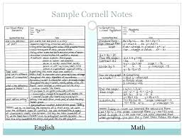 Cornell Notes Template Ashafrance Org