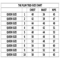 Iris Size Chart The Plum Tree Iris Flower Dress Dark Blue Casual Wear