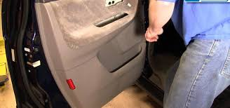 how to remove and replace the door panel on a 99 04 honda odyssey