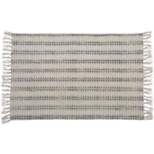 homart block print rug cotton rug 2x3 sawtooth stripe