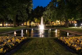 Beautiful lighting Outdoor Tree Night Meadow Sunlight Flower Chateau Palace Evening Lantern Reflection Autumn Park Garden Lighting Fountain Estate Wallpaperplay Free Images Tree Night Meadow Sunlight Flower Chateau Palace