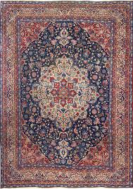 antique blue bakground isfahan persian rug 51066 nazmiyal