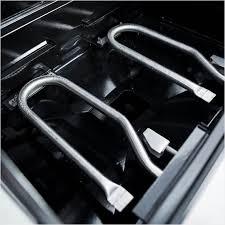 black kitchenaid propane grill detail