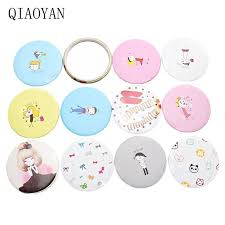 <b>Mini</b> Portable Mirror Convenient <b>Cute</b> Cartoon Circular Hand Mirror ...