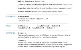 Resume Microsoft Word 2010 Resume Template Customer Service