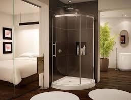 Rounded Sliding Shower Door For Corner Shower