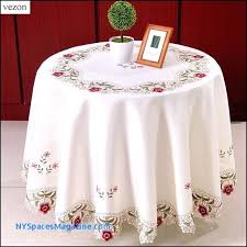 52 inch round tablecloth opal innocence inch round tablecloth ivory kitchen dining