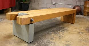 concrete and wood furniture. Concrete And Wood Bench Furniture L