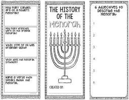 6 Sided Brochure Template The Menorah The History Of Hanukkah Research Project Winter Mrs