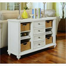 white console table with drawer. Plain White American Drew Camden White Console Table With Baskets Intended With Drawer