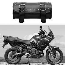 moto backpack pu leather tank bag motorcycle luggage saddle bag storage pouch motorcycle bag