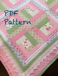 Chic Baby Girl Quilt Pattern Log Cabin Quilt Pattern Modern & Chic Baby Girl Quilt Pattern, Log Cabin Quilt Pattern, Modern Baby Quilt  Pattern, Baby Quilt Pattern, PDF Pattern - Quilt Adamdwight.com