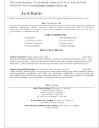 Dentist Resume Samples Resume For Dental Technician Ophthalmic Technician Cover Letter