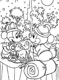 Kids N Fun Kleurplaat Mickey Mouse Mickey En Minnie Kamperen