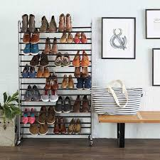 basics 50 pair shoe rack at
