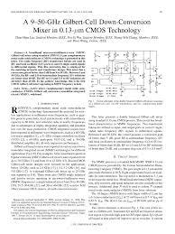 Gilbert Cell Design Pdf A 9 50 Ghz Gilbert Cell Down Conversion Mixer In 0 13