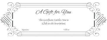 wedding gift certificate template free word microsoft