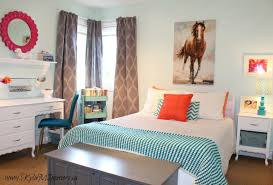 bedroom decorating ideas for teenage girls on a budget. Exellent Decorating Budget Friendly Ideas For Young Girls Or Tween Bedroom Decorating  Using Icy Moon Drops By Benjamin Moore Light Blue And Cil Duo Paint Coral Hot  Intended Bedroom Decorating Ideas For Teenage Girls On A