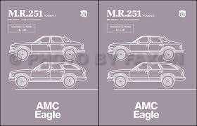 1984 1988 amc eagle repair shop manual reprint m r 251