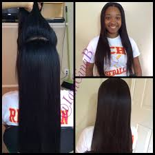 Sew In Hairstyles Long Hair Versitile Sew In Two Way Sew In Middle Part Half Up Half Down
