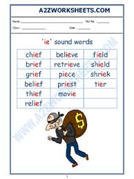 This unit contains a variety of activities to help your students grasp the short e sound. A2zworksheets Worksheet Of English Phonics Sounds Ie Sound Words Sound Words Reading English
