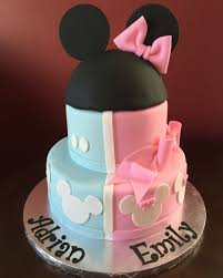 9 Mickey And Minnie Cakes For Twins Photo Twin Mickey And Minnie