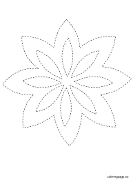 Free Flowers Templates Paper Flower Printable Template For Kids