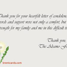 thank you card examples thank you cards for sympathy beautiful sympathy thank you notes